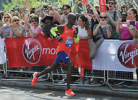 Athletics - 2018 Virgin Money London Marathon<br /> <br /> Mo Farah of GBR cheered by fans along the way, at <br /> <br /> COLORSPORT/ANDREW COWIE