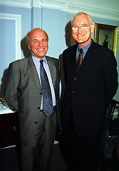 Left to right, MR GREG DYKE the new Director General of the BBC and SIR JOHN BIRT the former Director General of the BBC, at a reception in London on 17th November 1999.MZF 49
