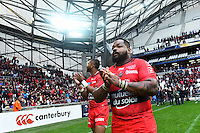 Joie Mathieu Bastareaud / Delon Armitage - 19.04.2015 - Toulon / Leinster - 1/2Finale European Champions Cup -Marseille<br /> Photo : Andre Delon / Icon Sport