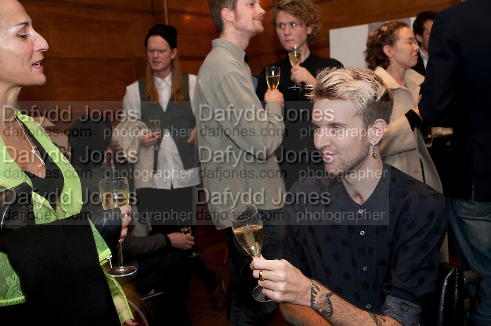 BARBARA GRISPINI; OLIVER HEMSLEY, ,  Art Against Knives charity auction , Town Hall Hotel in Bethnal Green, London. 15 December 2011