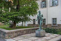 Statue of Josip Jurcic in Maribor, Slovenia on 27th of September.  Photo by Milos Vujinovic / Sportida