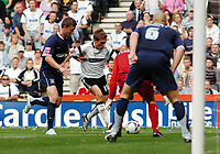 Photo: Kevin Poolman.<br />Derby County v Southend United. Coca Cola Championship. 30/09/2006. Derby's Arturo Lupoli scores the opening goal against Southend.