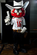 DALLAS, TX - JULY 22:  Texas Tech mascot Raider Red poses for a portrait during the Big 12 Media Day on July 22, 2014 at the Omni Hotel in Dallas, Texas.  (Photo by Cooper Neill/Getty Images) *** Local Caption *** Raider Red