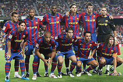 FC Barcelona's team photo during the Supercup of Spain.August 23 2009.