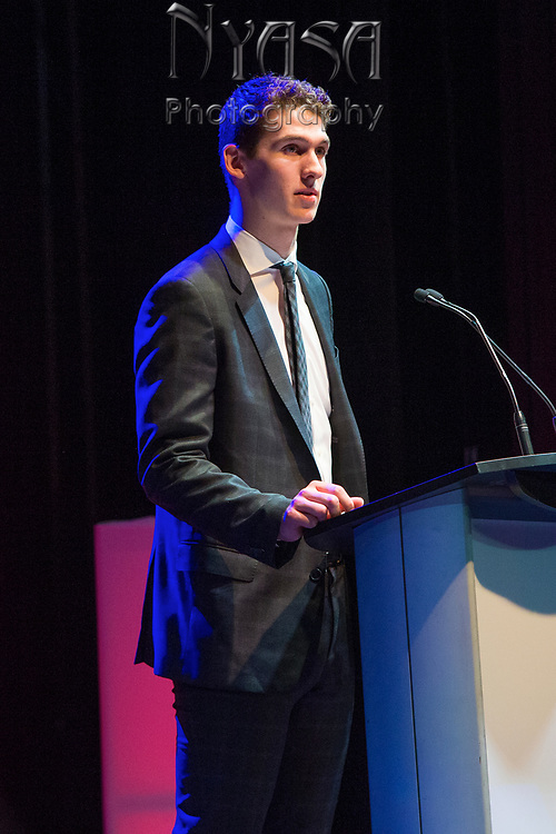 KELOWNA, CANADA - MARCH 18:  Cal Foote at the Kelowna Rockets Awards Ceremony on March 18, 2018 at The Kelowna Community Theatre  in Kelowna, British Columbia, Canada.  (Photo By Cindy Rogers/Nyasa Photography,  *** Local Caption ***