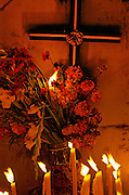 Day of the Dead celebrations are held in veneration of the dead from sunset until sunrise the following day with candlelight in the cemetery.