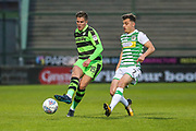 Forest Green Rovers Charlie Cooper(15) passes the ball forward during the EFL Sky Bet League 2 match between Yeovil Town and Forest Green Rovers at Huish Park, Yeovil, England on 24 April 2018. Picture by Shane Healey.
