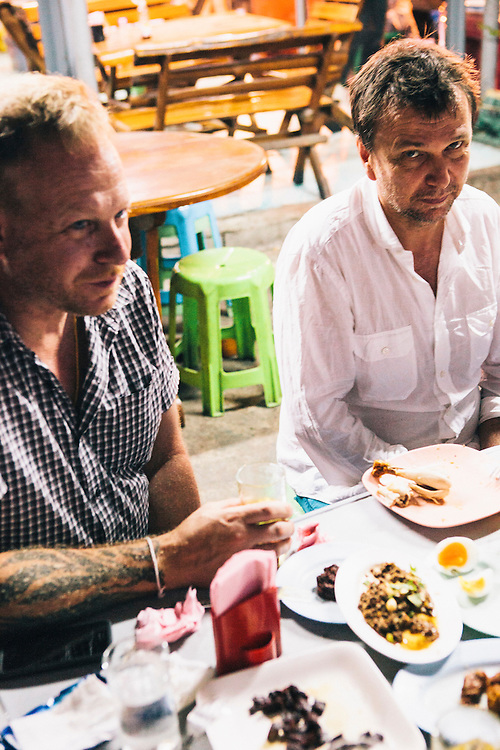 David Thopson and Andy Ricker at Laab//larb Northern Thai restaurant, Chiang Mai