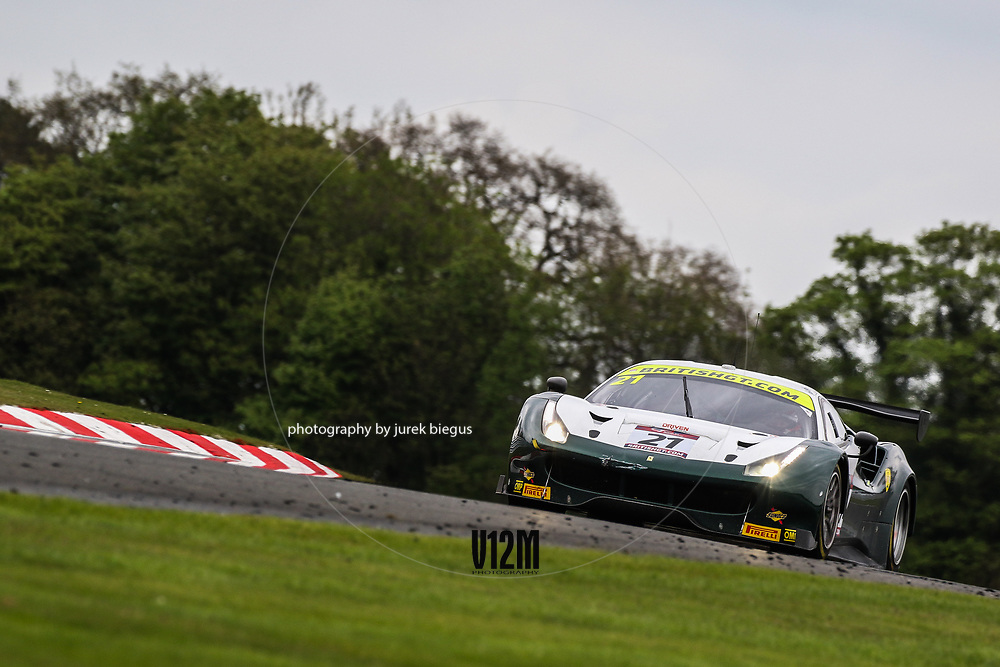 Spirit of Race | Ferrari 488 GT3 | Duncan Cameron | Matt Griffin | British GT Championship | Oulton Park | 17 April 2017 | Photo: Jurek Biegus