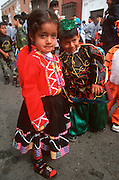 PERU, TRUJILLO, FESTIVALS children in parade on Plaza de Armas
