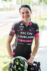 Ursa Pintar (SLO) of BTC City Ljubljana Team after the Stage 1 (102,5 km) from Kamnik to Ljubljana at 26th Giro Rosa 2015 Women cycling race, on July 4, 2015 in BTC City, Ljubljana,  Slovenia. Photo by Vid Ponikvar / Sportida