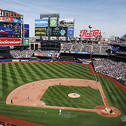 A panoramic view of Citi Field during the New York Mets Vs Miami Marlins MLB regular season baseball game at Citi Field, Queens, New York. USA. 19th April 2015. Photo Tim Clayton