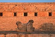 MEXICO, MAYAN, YUCATAN PEN. Uxmal, Governor's Palace and altar