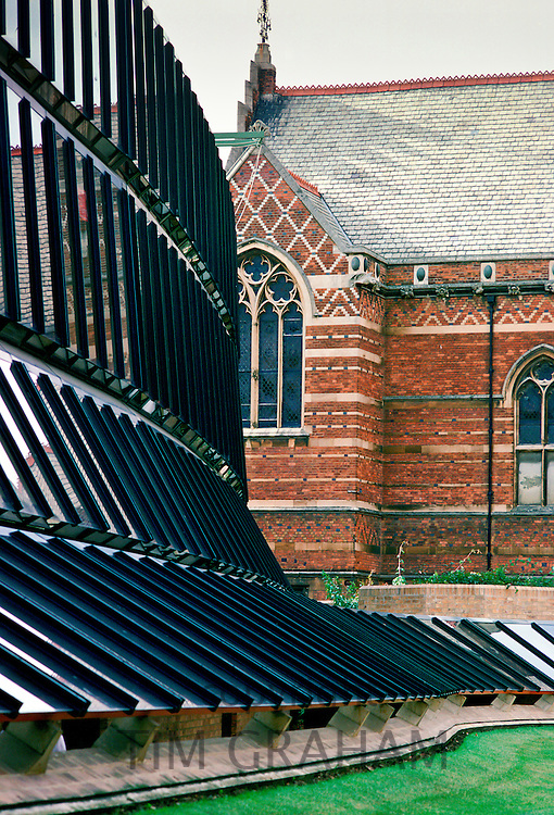 Keeble College glass extension, Oxford.
