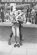 Sean, Goddard and Girl Outside Richard Shops, UK, 1980s