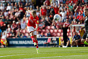 Swindon Town winger Lloyd Isgrove shoots at goal during the EFL Sky Bet League 2 match between Swindon Town and Macclesfield Town at the County Ground, Swindon, England on 14 September 2019.