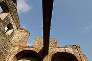 Arco Chato in Santo Domingo church ruins. Old Quarters, San Felipe, Panama City, Panama, Central America.