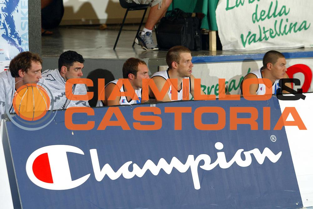 DESCRIZIONE : Bormio Trofeo Internazionale Diego Gianatti Canada Italia <br />GIOCATORE : Panchina Italia <br />SQUADRA : Italia <br />EVENTO : Bormio Trofeo Internazionale Diego Gianatti Canada Italia <br />GARA : Canada Italia<br />DATA : 21/07/2006 <br />CATEGORIA : Champion<br />SPORT : Pallacanestro <br />AUTORE : Agenzia Ciamillo-Castoria/M.Marchi