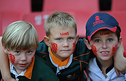 JOHANNESBURG, South Africa, 02 April 2011. Lions fans during the Super15 Rugby match between the Lions and the Reds at Coca-Cola Park in Johannesburg, South Africa on 02 April 2011. .Photographer : Anton de Villiers / SPORTZPICS