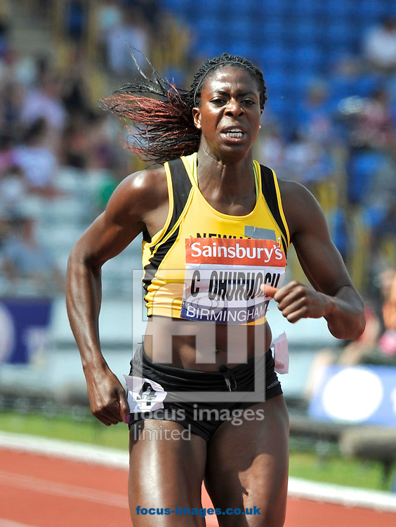 Picture by Alan Stanford/Focus Images Ltd +44 7915 056117<br /> 12/07/2013<br /> Christine Ohuruogu (GBR) 400m pictured winning the 400m final on day two of Sainsbury's British Championship at Alexander Stadium, Birmingham.