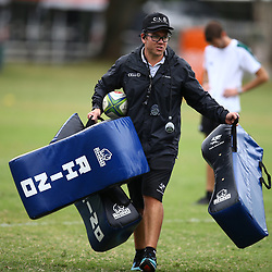 DURBAN, SOUTH AFRICA - MAY 15: Jaco Pienaar (Assistant Coach) of the Cell C Sharks during the Cell C Sharks training session at Jonsson Kings Park on May 15, 2018 in Durban, South Africa. (Photo by Steve Haag/Gallo Images)