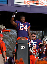 November 21, 2009; Clemson, SC, USA;  Clemson Tigers wide receiver Ronald Shamley (24) at Howard's Rock before the game against the Virginia Cavaliers at Memorial Stadium.  Clemson defeated Virginia 34-21.