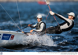 Aquece Rio – International Sailing Regatta 2015 is the second sailing test event in preparation for the Rio 2016 Olympic Sailing Competition. Held out of Marina da Gloria from 15-22 August, the Olympic test event welcomes more than 330 sailors from 52 nations in Rio de Janeiro, Brazil. <br /> <br /> Credit Pedro Martinez/Sailing Energy
