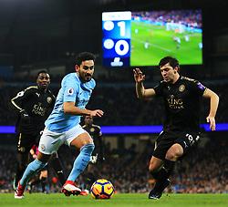 Ilkay Gundogan of Manchester City attacks - Mandatory by-line: Matt McNulty/JMP - 10/02/2018 - FOOTBALL - Etihad Stadium - Manchester, England - Manchester City v Leicester City - Premier League