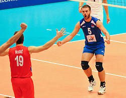 18.09.2011, Stadthalle, Wien, AUT, CEV, Europaeische Volleyball Meisterschaft 2011, Finale, Italien vs Serbien, im Bild Vlado Petkovic, (SRB, #5, Setter) // during the european Volleyball Championship Final Italy vs Serbia, at Stadthalle, Vienna, 2011-09-18, EXPA Pictures © 2011, PhotoCredit: EXPA/ M. Gruber
