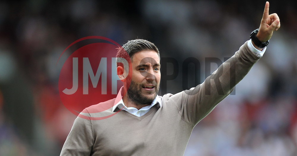 Bristol City head coach Lee Johnson - Mandatory by-line: Paul Knight/JMP - 17/09/2016 - FOOTBALL - Ashton Gate Stadium - Bristol, England - Bristol City v Derby County - Sky Bet Championship