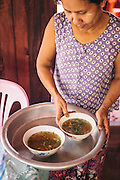 Mon cuisine on Bilu Island. Shan State, Myanmar