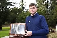 Rob Brazil (Naas) winner of the Bridgestone Order of Merit at the presentations in the GUI National Academy, Maynooth, Kildare, Ireland. 30/11/2019.<br /> Picture Fran Caffrey / Golffile.ie<br /> <br /> All photo usage must carry mandatory copyright credit (© Golffile   Fran Caffrey)