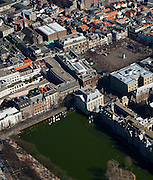 Nederland, Zuid-Holland, Den Haag, 20-03-2009; Hofvijver met het Plein, Mauritshuis.luchtfoto (toeslag), aerial photo (additional fee required)foto/photo Siebe Swart