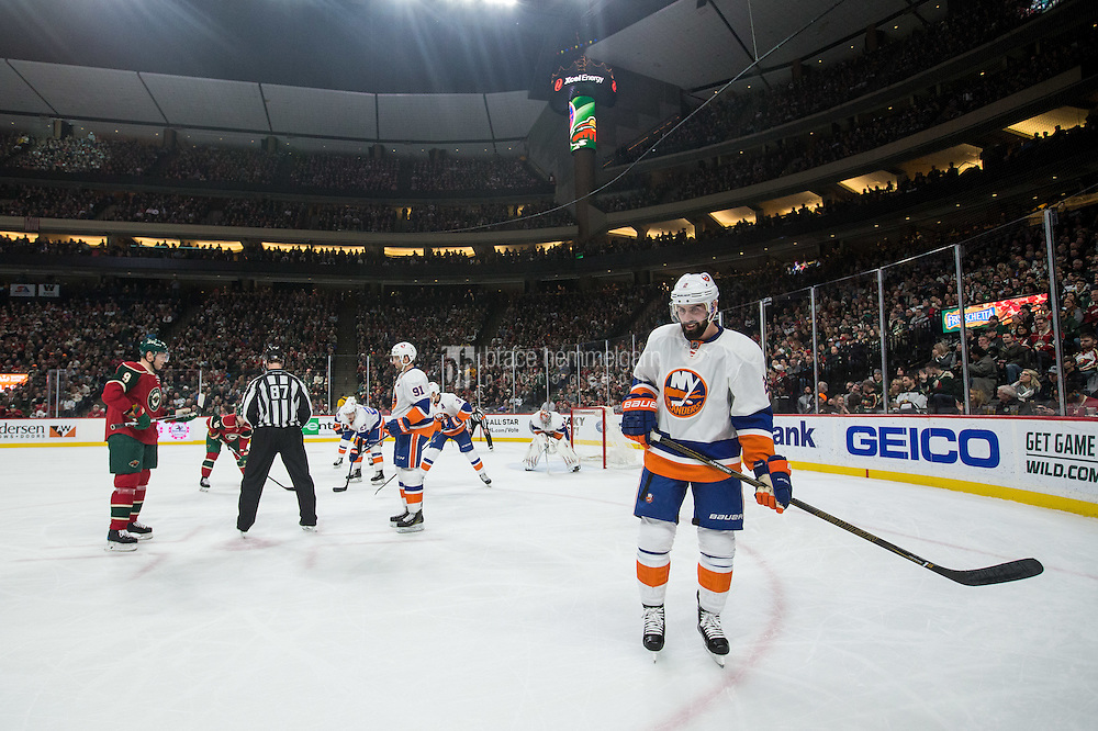 Dec 29, 2016; Saint Paul, MN, USA; New York Islanders defenseman Nick Leddy (2) against the Minnesota Wild at Xcel Energy Center. The Wild defeated the Islanders 6-4. Mandatory Credit: Brace Hemmelgarn-USA TODAY Sports
