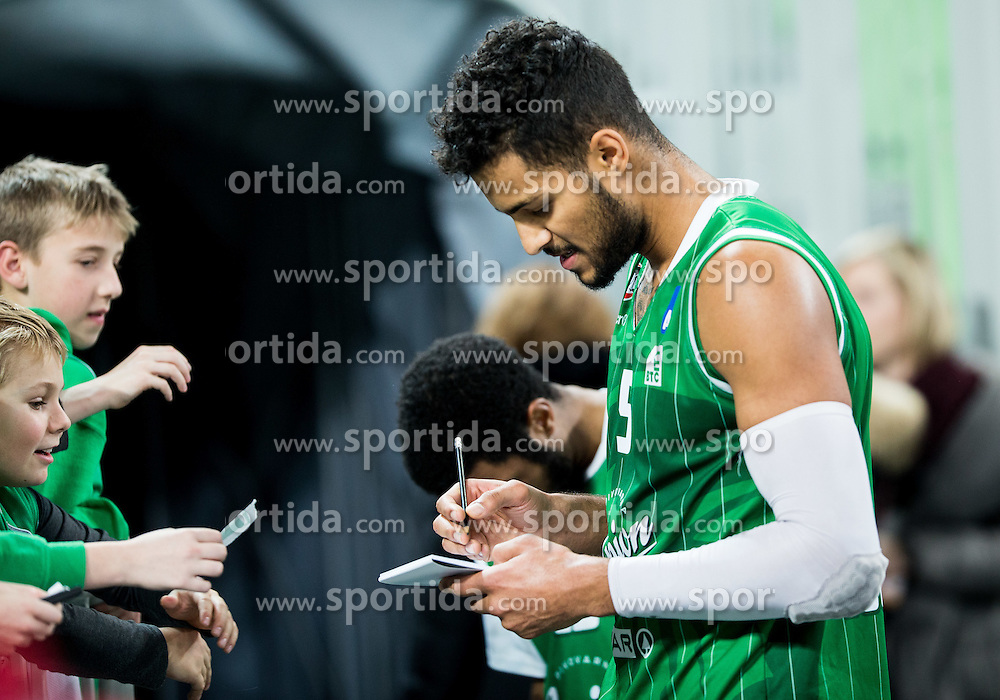 Devin Oliver #5 of KK Union Olimpija after the basketball match between KK Union Olimpija Ljubljana and KK mega Leks in 14th Round of ABA League 2016/17, on December 18, 2016 in Arena Stozice, Ljubljana, Slovenia. Photo by Vid Ponikvar / Sportida