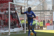 Donaldson celebrates during the Sky Bet Championship match between Nottingham Forest and Birmingham City at the City Ground, Nottingham, England on 28 December 2014. Photo by Jodie Minter.