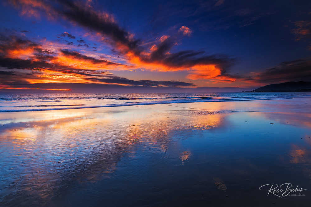 Sunset from Ventura State Beach, Ventura, California USA