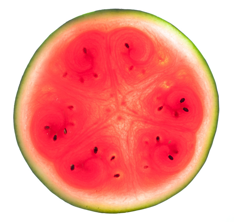 Water melon cross section
