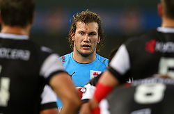 RG Snyman of the Bulls during the Currie Cup match between the The Sharks and The Blue Bulls held at King's Park, Durban, South Africa on the 27th August 2016<br /> <br /> Photo by:   Anesh Debiky / Real Time Images