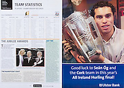All Ireland Senior Hurling Championship Final,.03.09.2006, 09.03.2006, 3rd September 2006,.Senior Kilkenny 1-16, Cork 1-13,.Minor Tipperary 2-18, Galway 2-7.3092006AISHCF,.Ulster Bank,