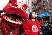 Students from PS130M The Desoto School walk in the 2014 Chinese Lunar New Year Parade. Photo by Natalie Fertig/NYCity Photo Wire
