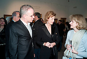 HANS ULRICH OBRIST; JULIA PEYTON-JONES, Book launch for ' art and Patronage: The Middle East' at Sotheby's. London. 22 November 2010. -DO NOT ARCHIVE-© Copyright Photograph by Dafydd Jones. 248 Clapham Rd. London SW9 0PZ. Tel 0207 820 0771. www.dafjones.com.