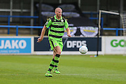 Forest Green Rovers Charlie Clough (5) on the ball during the Vanarama National League match between Dover Athletic and Forest Green Rovers at Crabble Athletic Ground, Dover, United Kingdom on 10 September 2016. Photo by Shane Healey.