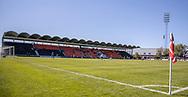 FODBOLD: Et kig udover stadion under kampen i 2. Division mellem BK Frem og Slagelse B&I den 11. maj 2019 i Valby Idrætspark. Foto: Claus Birch