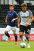 Chris Martin of Derby County in action during the EFL Sky Bet Championship match between Derby County and Brentford at the Pride Park, Derby, England on 11 July 2020.