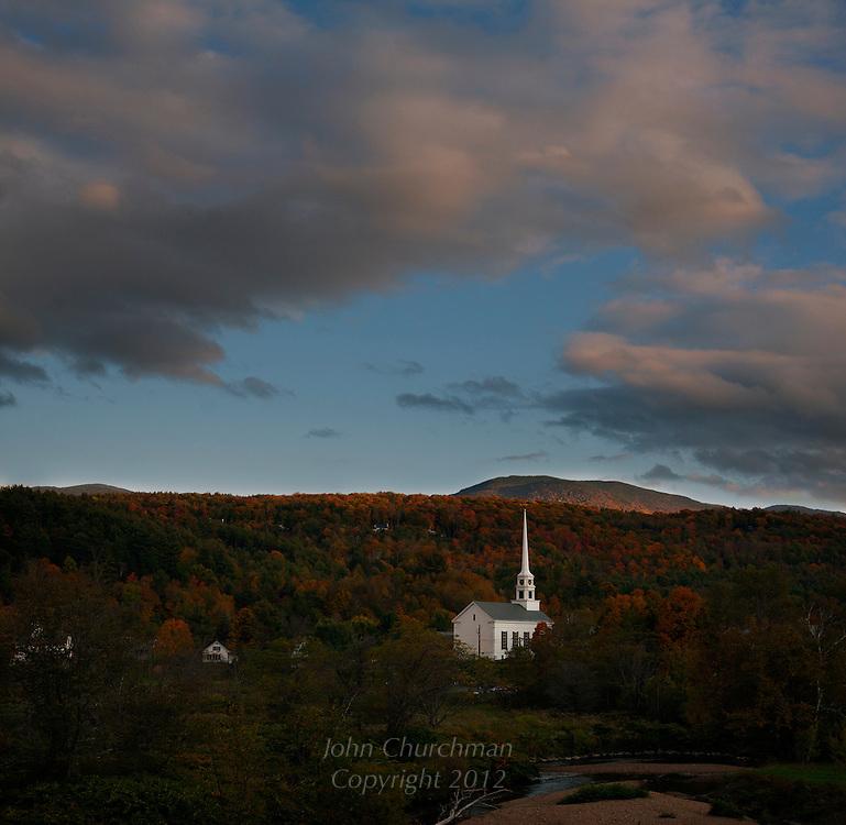 Church, Stowe, Vermont, Fall, Autumn
