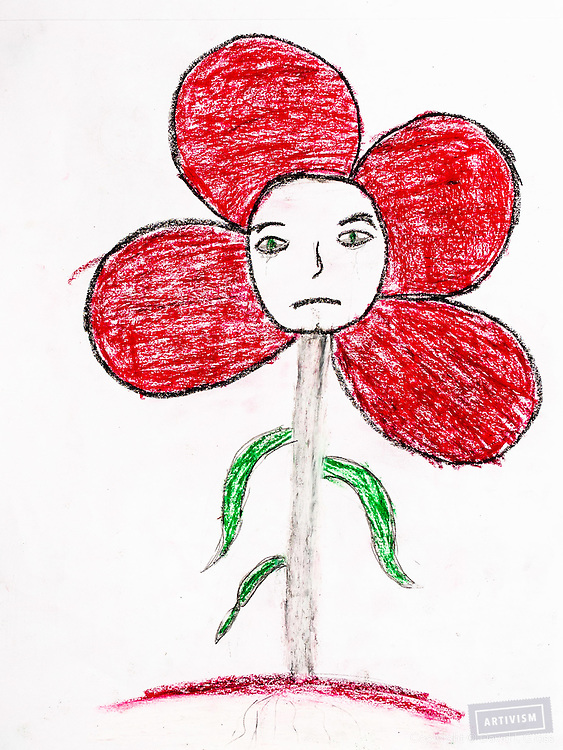 Drawing by Syrian refugee child.