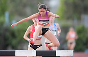 May 16, 2019; Los Angeles, CA, CA, USA; Maria Bernard-Galea places second in the women's steeplechase in 10:05.71 during the USATF Distance Classic at Occidental College.