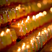 Here candles are lit as an offering or prayer to departed souls especially during the Festival of the Nine Emperors.