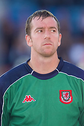 OSLO, NORWAY - Wednesday, September 5, 2001: Wales' goalkeeper Paul Jones during the FIFA World Cup 2002 Qualifying Group 5 match against Norway at the Ullevaal Stadion. (Pic by David Rawcliffe/Propaganda)